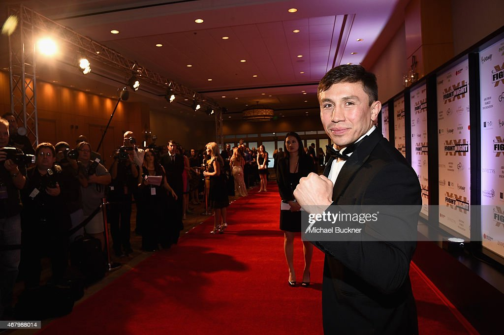 Boxer <a gi-track='captionPersonalityLinkClicked' href=/galleries/search?phrase=Gennady+Golovkin&family=editorial&specificpeople=10619206 ng-click='$event.stopPropagation()'>Gennady Golovkin</a> attends Muhammad Ali's Celebrity Fight Night XXI at the JW Marriott Phoenix Desert Ridge Resort & Spa on March 28, 2015 in Phoenix, Arizona.