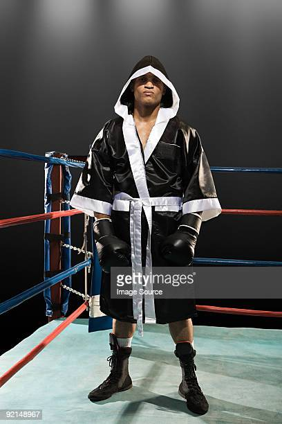Boxer in boxing ring