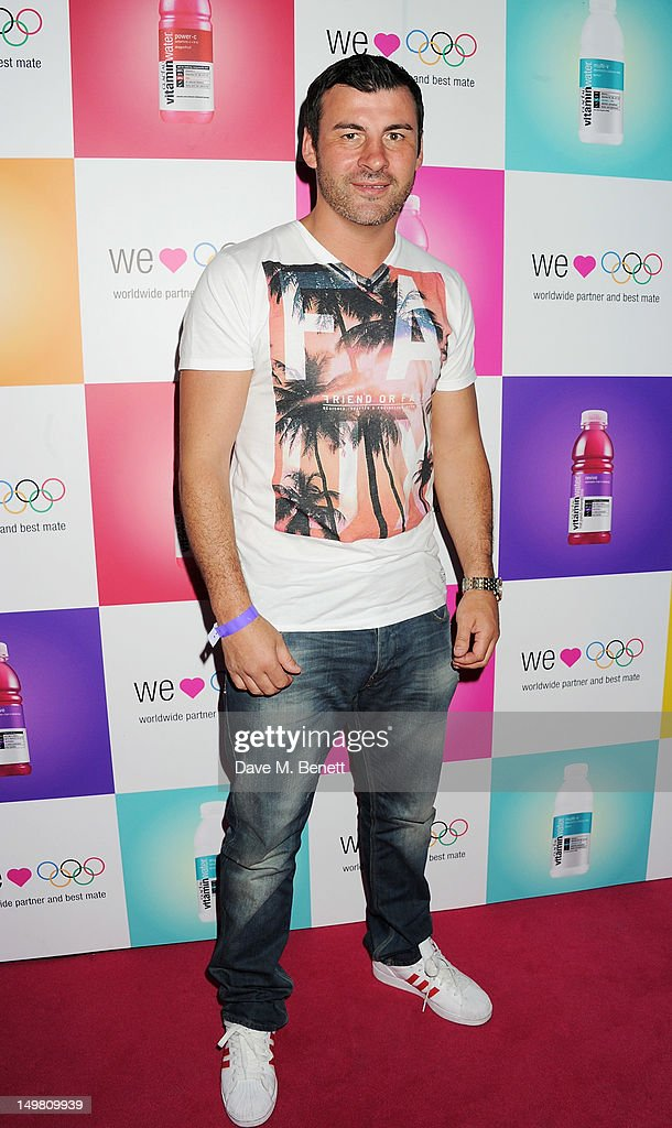 Boxer Joe Calzaghe arrives as Glaceau vitaminwater presents 'Jessie J Live In London' at The Roundhouse on August 4, 2012 in London, England.