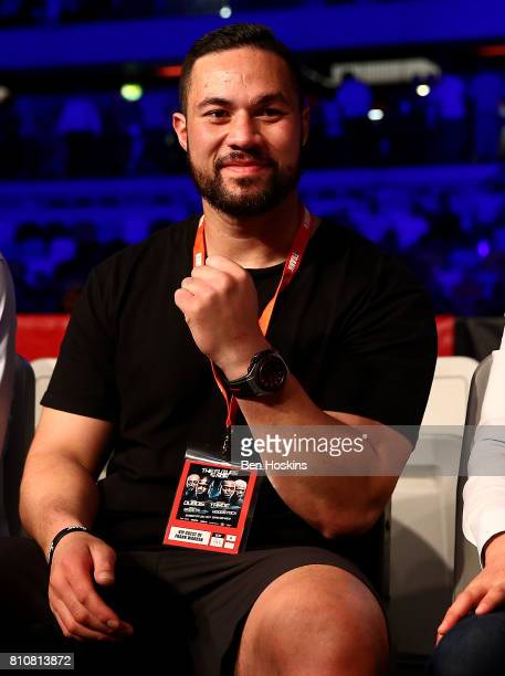 Boxer Joseph Parker of New Zealand watches the action at Copper Box Arena on July 8 2017 in London England