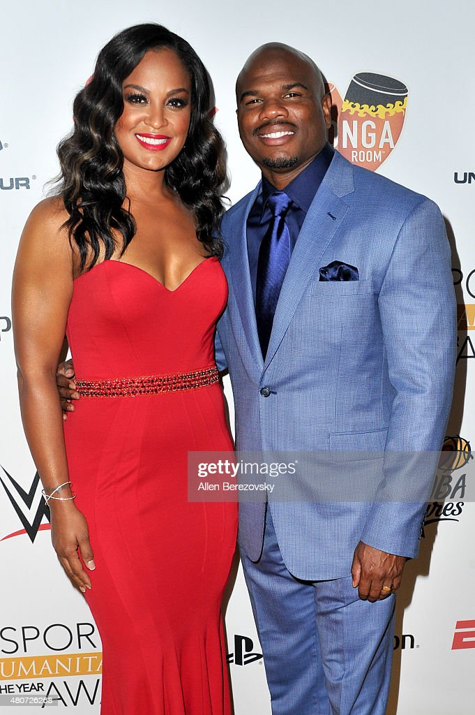 Boxer Laila Ali and former NFL player Curtis Conway arrive at the Sports Humanitarian of the Year Awards 2015 at The Conga Room at LA Live on July 14...