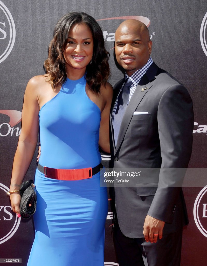 Boxer Laila Ali and husband Curtis Conway arrive at the 2014 ESPY Awards at Nokia Theatre LA Live on July 16 2014 in Los Angeles California