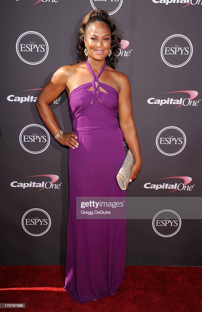 Boxer Laila Ali arrives at the 2013 ESPY Awards at Nokia Theatre L.A. Live on July 17, 2013 in Los Angeles, California.