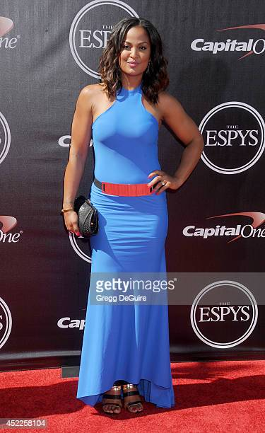 Boxer Laila Ali arrives at the 2014 ESPY Awards at Nokia Theatre LA Live on July 16 2014 in Los Angeles California