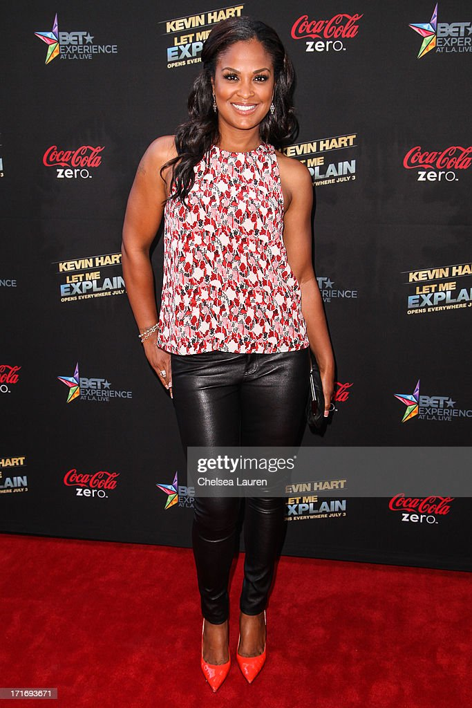 Boxer Laila Ali arrives at the 'Kevin Hart: Let Me Explain' premiere at Regal Cinemas L.A. Live on June 27, 2013 in Los Angeles, California.