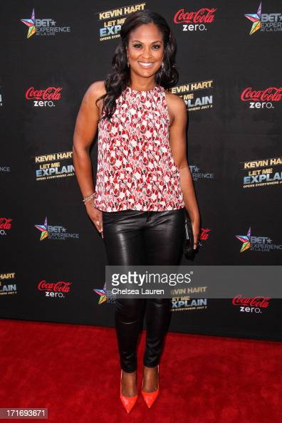 Boxer Laila Ali arrives at the 'Kevin Hart Let Me Explain' premiere at Regal Cinemas LA Live on June 27 2013 in Los Angeles California
