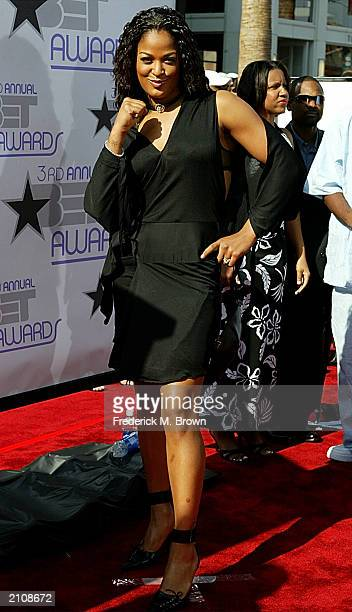 Boxer Laila Ali attends the 3rd Annual BET Awards Show at the Kodak Theatre June 24 2003 in Hollywood California