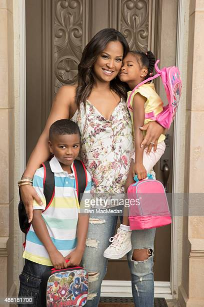 Boxer Laila Ali is photographed for USA Today's Back to School Magazine on May 8 2015 in Calabasas California