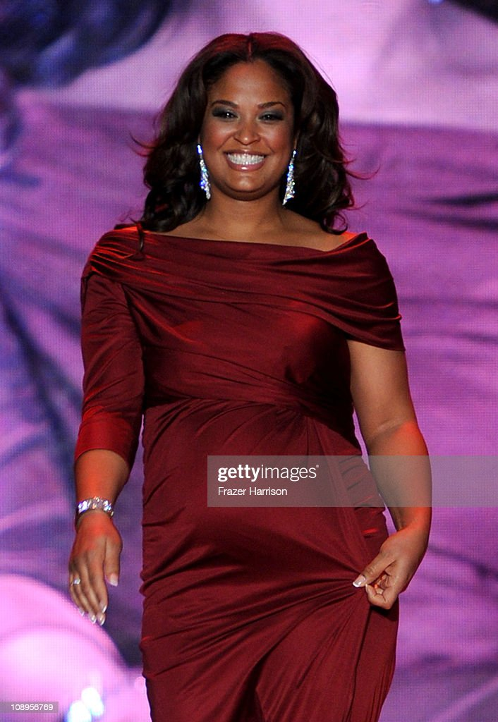 Boxer Laila Ali walks the runway at the Heart Truth Fall 2011 fashion show during Mercedes-Benz Fashion Week at The Theatre at Lincoln Center on February 9, 2011 in New York City.
