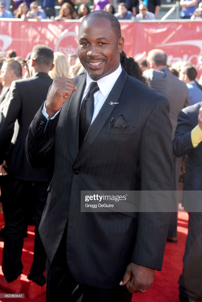 Boxer <a gi-track='captionPersonalityLinkClicked' href=/galleries/search?phrase=Lennox+Lewis&family=editorial&specificpeople=202865 ng-click='$event.stopPropagation()'>Lennox Lewis</a> arrives at the 2014 ESPY Awards at Nokia Theatre L.A. Live on July 16, 2014 in Los Angeles, California.