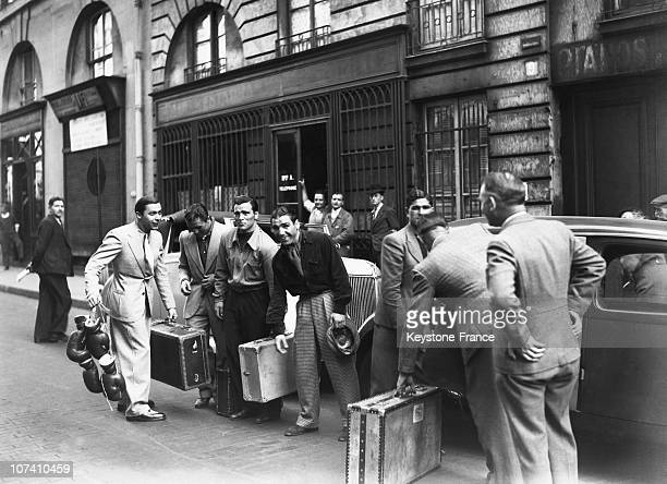 Boxer Marcel Cerdan Departure To Italy In Paris On May 30Th 1939