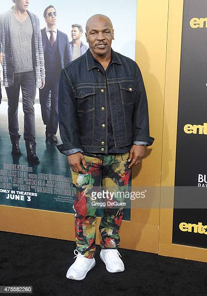 Boxer Mike Tyson arrives at the Los Angeles premiere of 'Entourage' at Regency Village Theatre on June 1 2015 in Westwood California