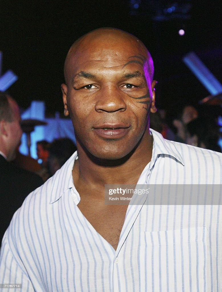 Boxer Mike Tyson poses at the afterparty for the premiere of Warner Bros. 'Superman Returns' on June 21, 2006 in Los Angeles, California.