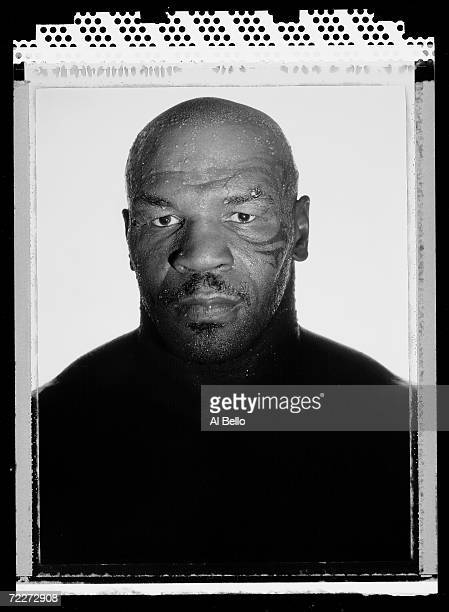 Boxer Mike Tyson two time former Heavyweight champion of the world poses at the Central Boxing Club on May 27 2005 in Phoenix Arizona He fought from...