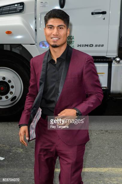 Boxer Mikey Garcia enters the Sirius XM Studios on July 27 2017 in New York City