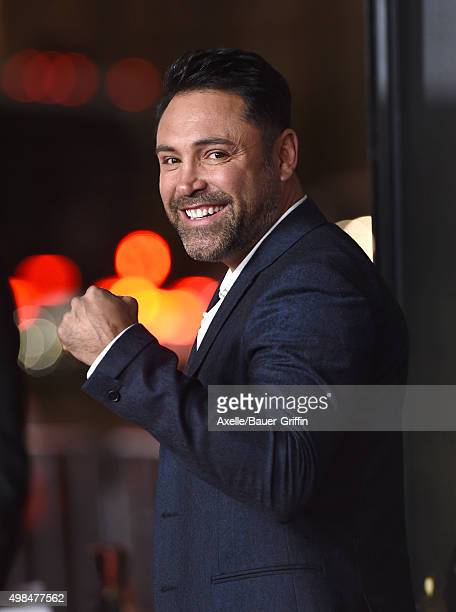 Boxer Oscar De La Hoya arrives at the AFI FEST 2015 Presented By Audi Centerpiece Gala Premiere of 'The 33' at TCL Chinese Theatre on November 9 2015...
