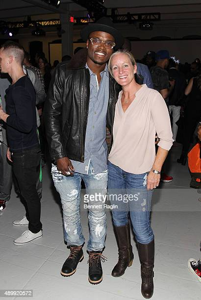 Boxer Peter 'Kid Chocolate' Quillin and Leslie Grundy of Timberland attend Day 1 of Timberland's Made For The Modern Trail Launch Party on September...