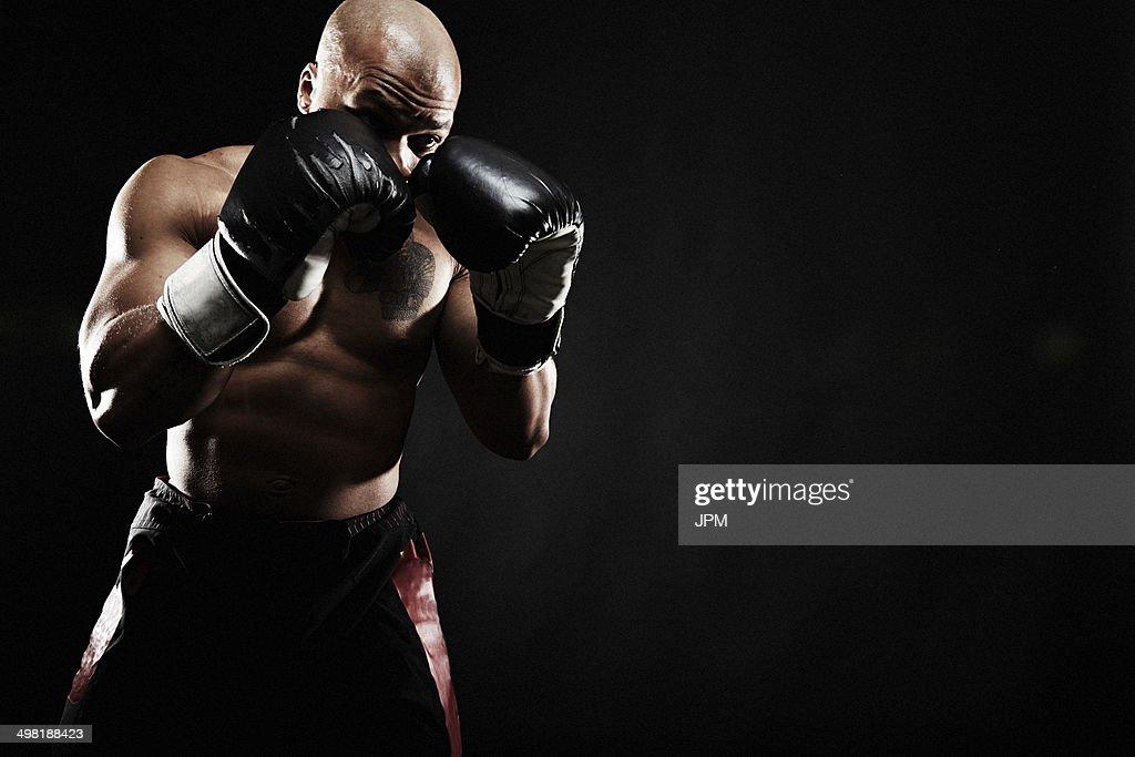 Boxer punching