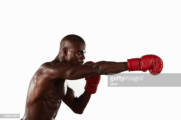 Boxer punching the air