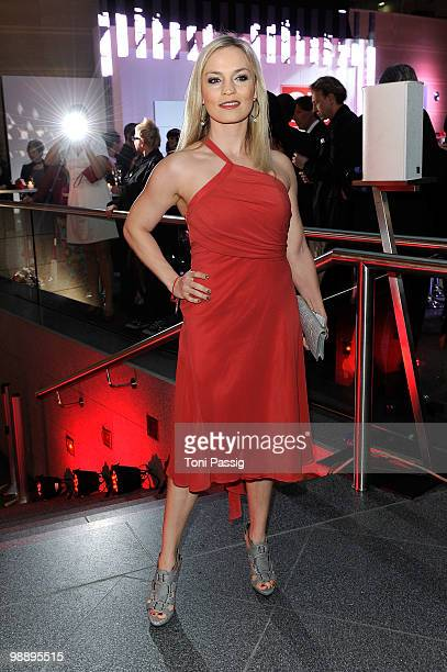Boxer Regina Halmich attends the 'OK Style Award 2010' at the British Embassy on May 6 2010 in Berlin Germany