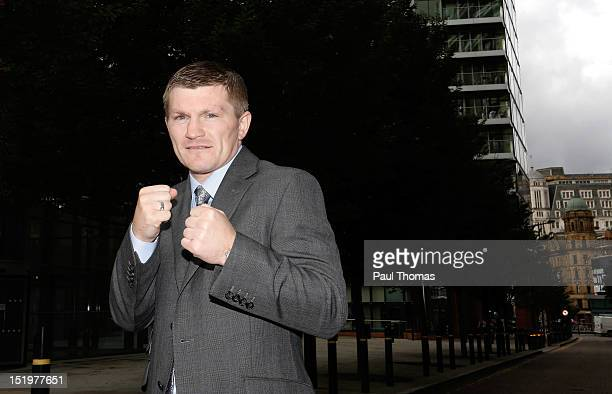 Boxer Ricky Hatton poses for a photograph after a press conference at the Radisson Blu Edwardian Hotel on September 14 2012 in Manchester England...
