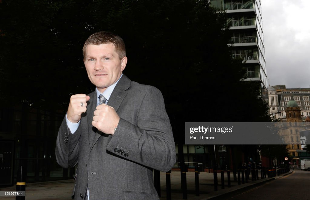 Boxer <a gi-track='captionPersonalityLinkClicked' href=/galleries/search?phrase=Ricky+Hatton&family=editorial&specificpeople=208674 ng-click='$event.stopPropagation()'>Ricky Hatton</a> poses for a photograph after a press conference at the Radisson Blu Edwardian Hotel on September 14, 2012 in Manchester, England. Hatton today confirmed that he is to resume boxing after being in retirement for three years.