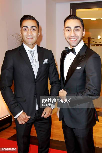 Boxer Robert Harutyunyan and his brother boxer Artem Harutyunyan attend the German Boxing Awards 2017 on October 8 2017 in Hamburg Germany