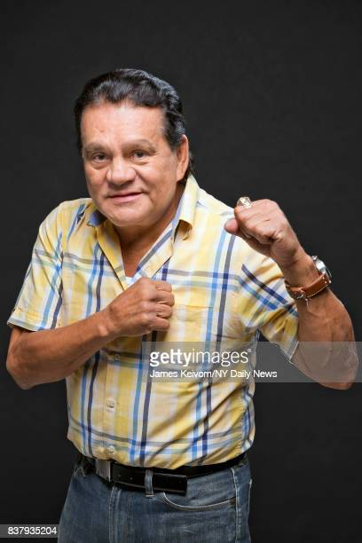 Boxer Roberto Duran photographed for NY Daily News on August 4 in New York City