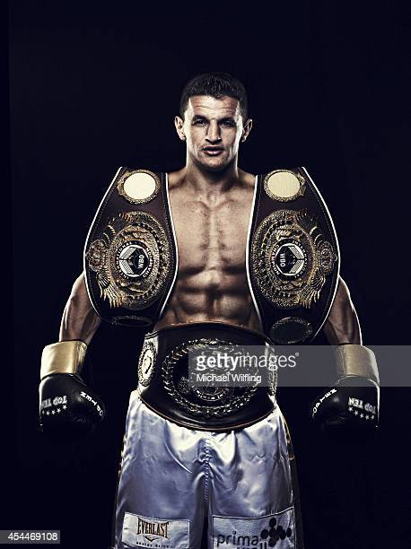 Boxer Robin Krasniqi is photographed on June 14 2014 in Munich Germany