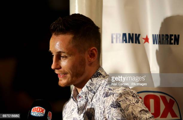 Boxer Ryan Burnett at Waterfront Hall Belfast PRESS ASSOCIATION Photo Picture date Saturday June 17 2017 See PA story BOXING Belfast Photo credit...