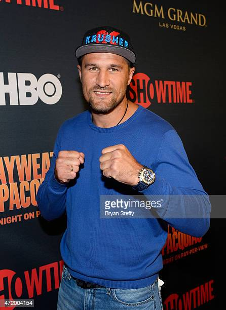 Boxer Sergey Kovalev attends the SHOWTIME And HBO VIP PreFight Party for 'Mayweather VS Pacquiao' at MGM Grand Hotel Casino on May 2 2015 in Las...