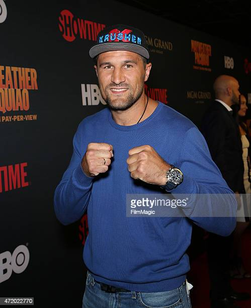 Boxer Sergey Kovalev attends the SHOWTIME And HBO VIP PreFight Party for 'Mayweather VS Pacquiao'at MGM Grand Hotel Casino at on May 2 2015 in Las...