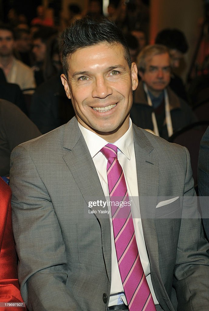Boxer Sergio Martinez attends the 'Madrid 2020' Press Conference at NH City Hotel on September 5, 2013 in Buenos AIres, Argentina