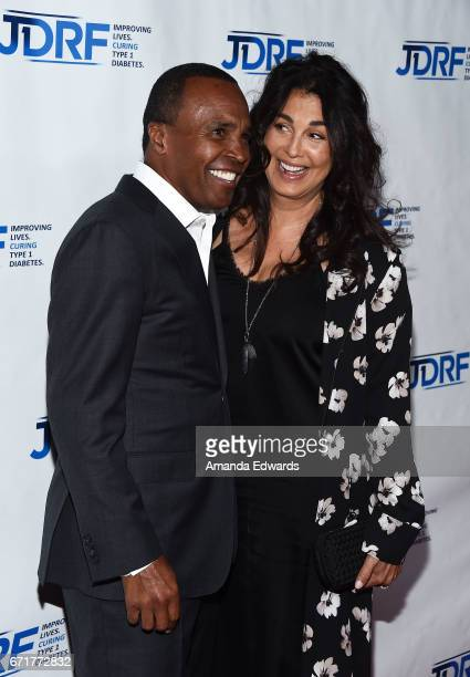 Boxer Sugar Ray Leonard and Bernadette Robi arrive at the JDRF LA Chapter's Imagine Gala at The Beverly Hilton Hotel on April 22 2017 in Beverly...
