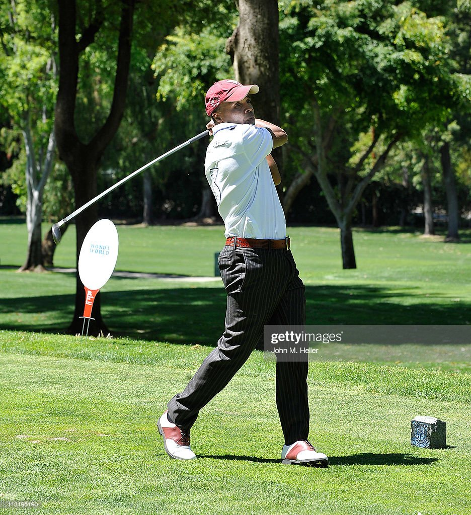 Boxer <a gi-track='captionPersonalityLinkClicked' href=/galleries/search?phrase=Sugar+Ray+Leonard&family=editorial&specificpeople=206479 ng-click='$event.stopPropagation()'>Sugar Ray Leonard</a> attends actor James Caan's Golf Tournament at El Caballero Country Club on April 25, 2011 in Tarzana, California.