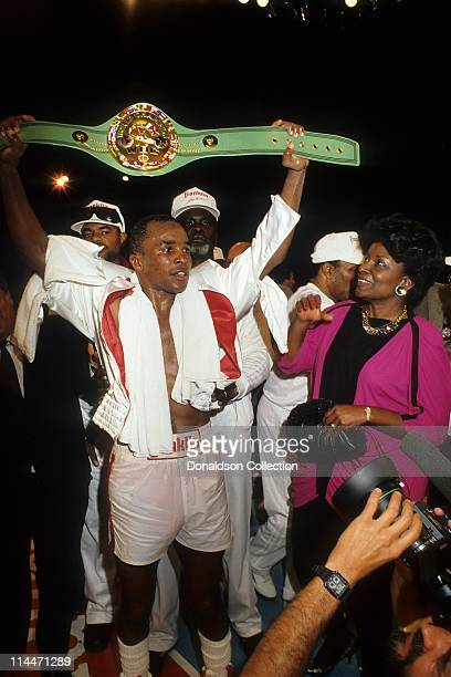 Boxer Sugar Ray Leonard on April 6 1984 in Caesars Palace Las Vegas Nevada