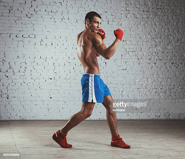 Boxer throwing uppercut