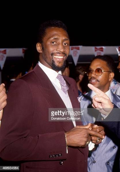 Boxer Tommy Hearns attends an event in 1986 in Los Angeles California