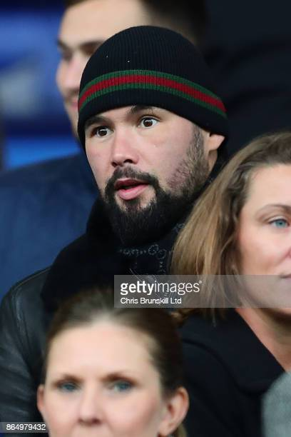 Boxer Tony Bellew looks on during the Premier League match between Everton and Arsenal at Goodison Park on October 22 2017 in Liverpool England