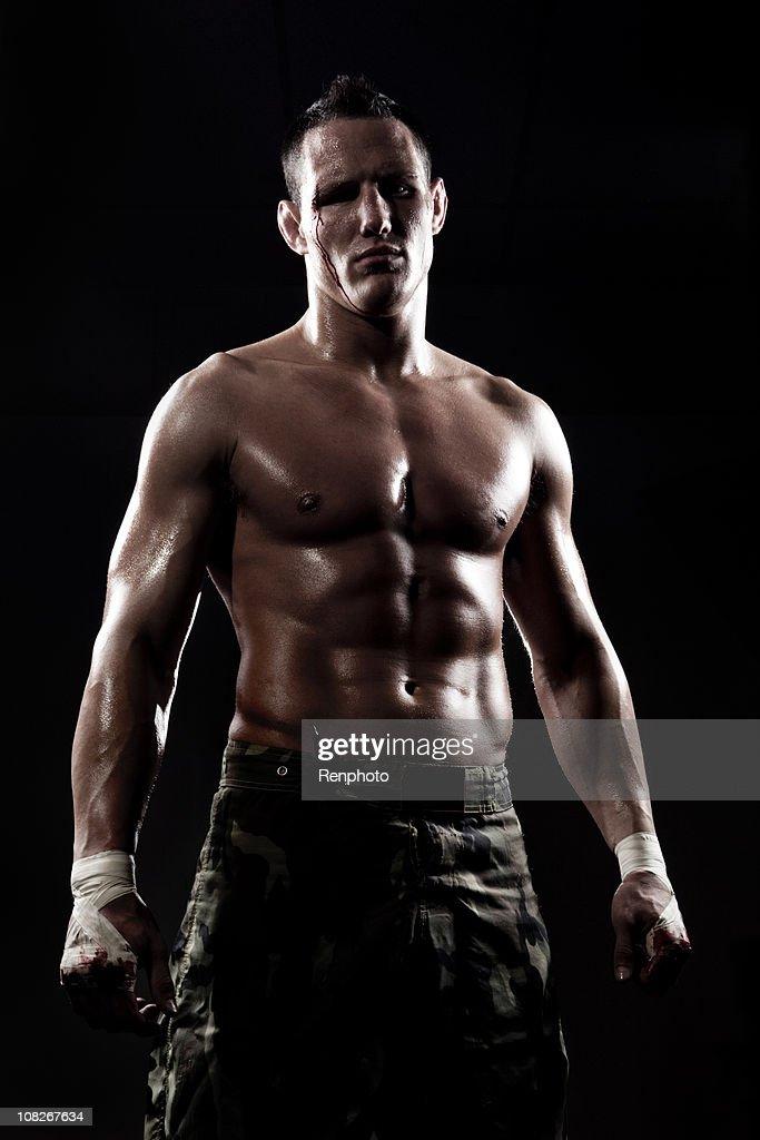 Boxer with dramatic studio lighting  Stock Photo  sc 1 st  Getty Images & Boxer With Dramatic Studio Lighting Stock Photo | Getty Images azcodes.com