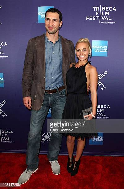 Boxer Wladimir Klitschko and actress Hayden Panettiere attend the premiere of 'Klitschko' during the 2011 Tribeca Film Festival at SVA Theater on...