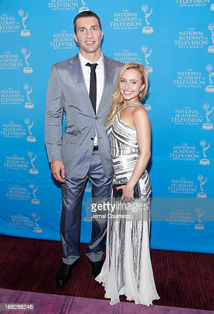 Boxer Wladimir Klitschko and actress/model Hayden Panettiere attend the 34th Annual Sports Emmy Awards Reception at Frederick P Rose Hall Jazz at...