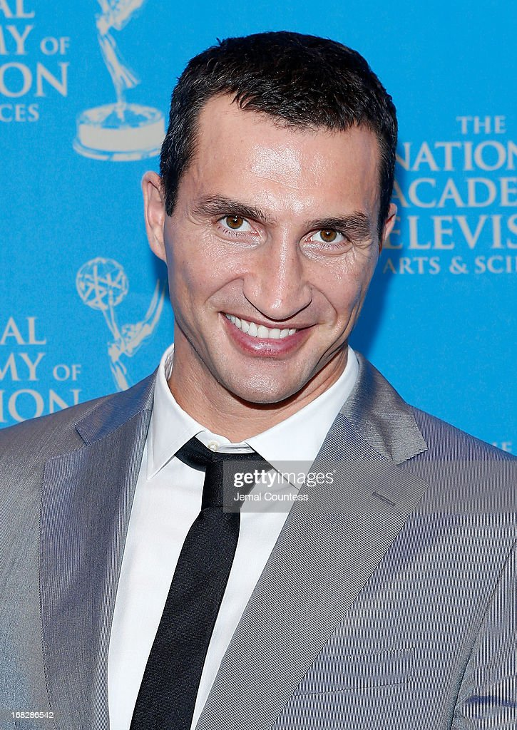 Boxer <a gi-track='captionPersonalityLinkClicked' href=/galleries/search?phrase=Wladimir+Klitschko&family=editorial&specificpeople=210650 ng-click='$event.stopPropagation()'>Wladimir Klitschko</a> attend the 34th Annual Sports Emmy Awards Reception at Frederick P. Rose Hall, Jazz at Lincoln Center on May 7, 2013 in New York City.