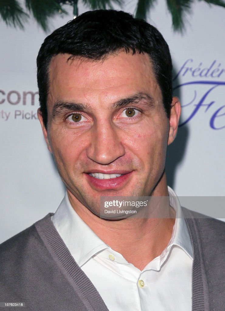 Boxer <a gi-track='captionPersonalityLinkClicked' href=/galleries/search?phrase=Wladimir+Klitschko&family=editorial&specificpeople=210650 ng-click='$event.stopPropagation()'>Wladimir Klitschko</a> attends the Fredric Fekkai Salon Holiday Party at Frederic Fekkai Hair Salon on December 4, 2012 in West Hollywood, California.