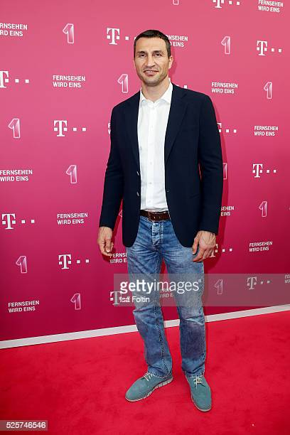 Boxer Wladimir Klitschko attends the Telekom Entertain TV Night at Hotel Zoo on April 28 2016 in Berlin Germany