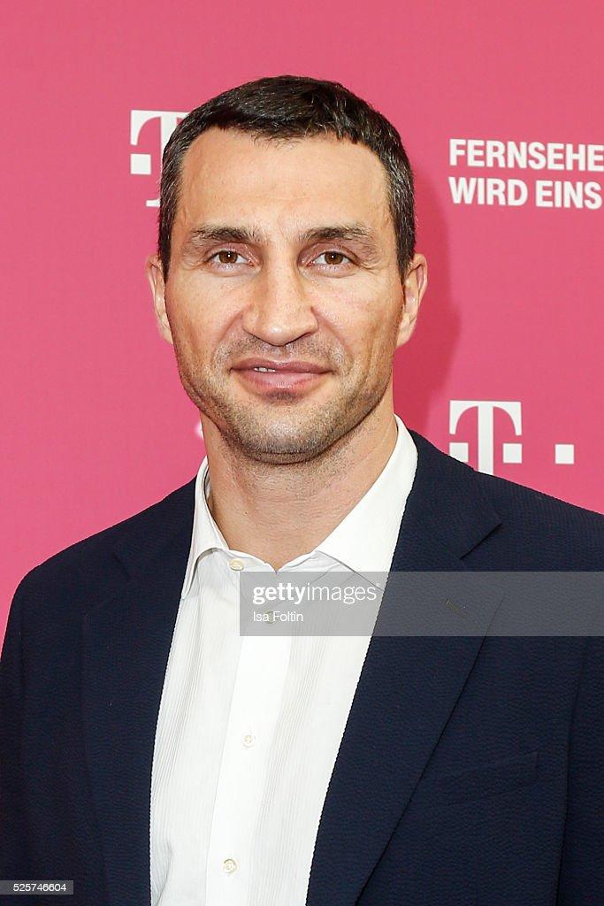 Boxer Wladimir Klitschko attends the Telekom Entertain TV Night at Hotel Zoo on April 28 2016 in Berlin Germany