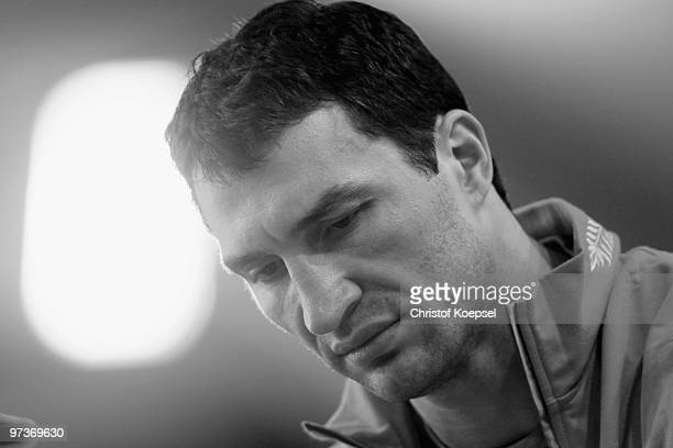 Boxer Wladimir Klitschko is seen during a training session at the Stanglwirt on March 2 2010 in Going Austria