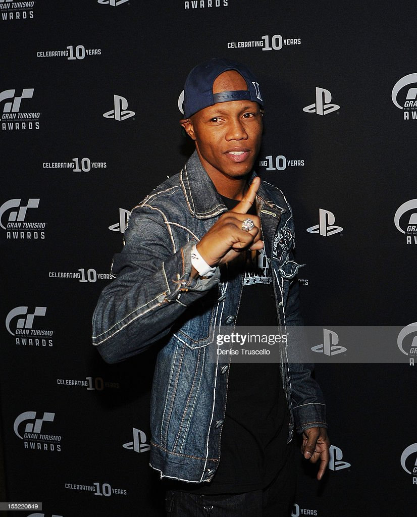 Boxer <a gi-track='captionPersonalityLinkClicked' href=/galleries/search?phrase=Zab+Judah&family=editorial&specificpeople=172008 ng-click='$event.stopPropagation()'>Zab Judah</a> poses for photos at Playstation's 10th Annual Gran Turismo Awards at The Palms Casino Resort on November 1, 2012 in Las Vegas, Nevada.