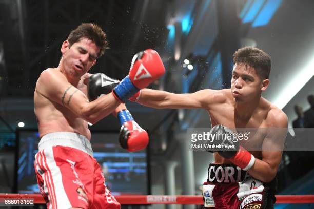 Boxers Antonio Martinez and Luis Coria attend the B Riley Co 8th Annual 'Big Fighters Big Cause' Charity Boxing Night benefiting the Sugar Ray...