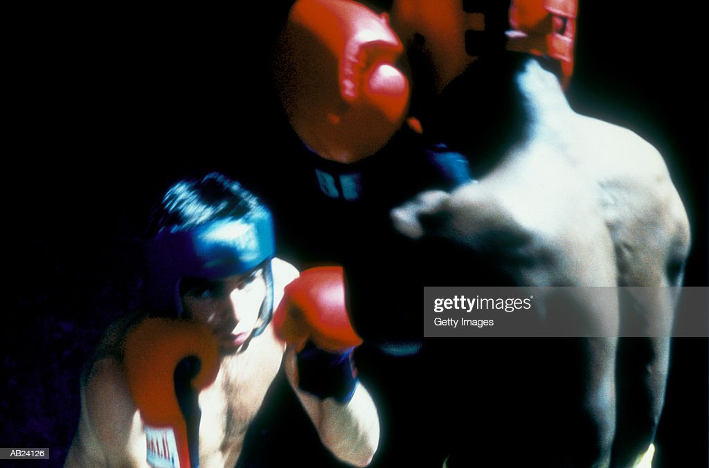 Boxers in match : Stock Photo